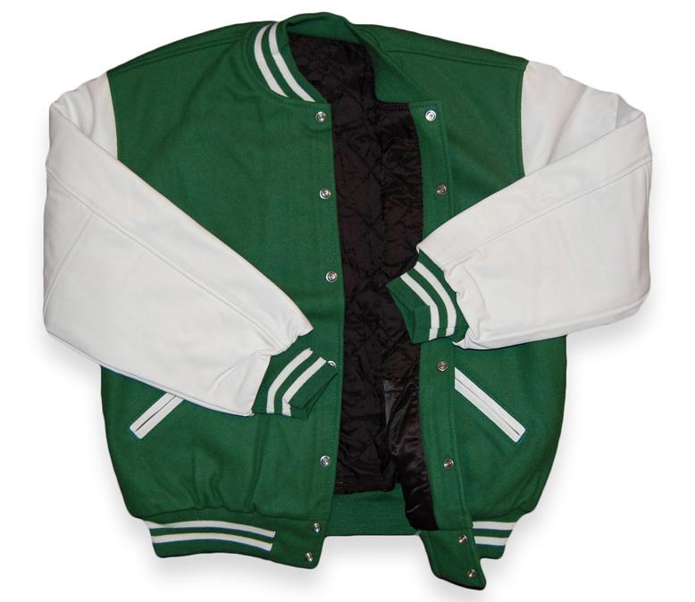 bf6b90f46cf Kelly Green / White Varsity Letterman Jacket - $139.99 : Michael ...