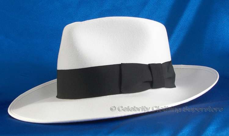 MJ Professional Entertainers - White Fedora Hat - Pro Series -  119.99 6a10298deca