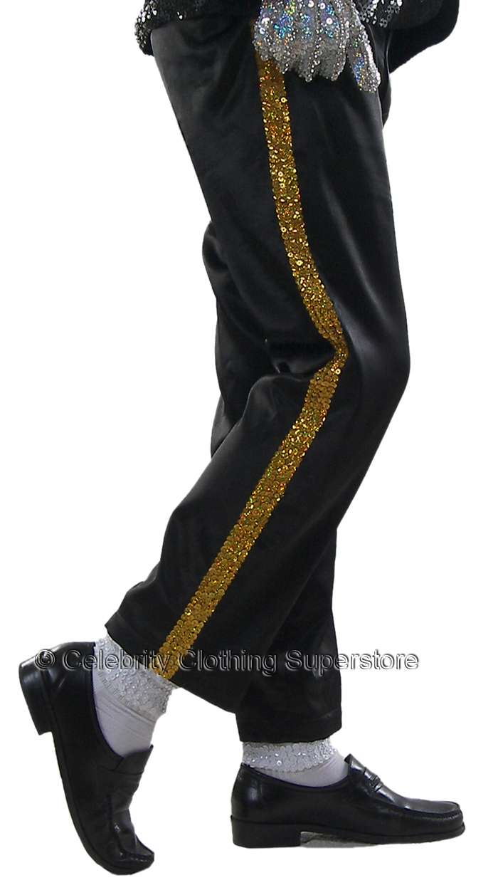 65fff11aef520 MJ Entertainers Gold Stripe Real Sequin Trousers (Pro Series ...