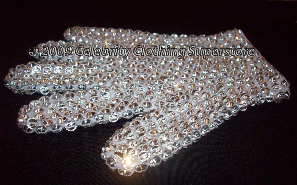 Mj Performers Glove With 100 S Real Loch Rosen Crystals
