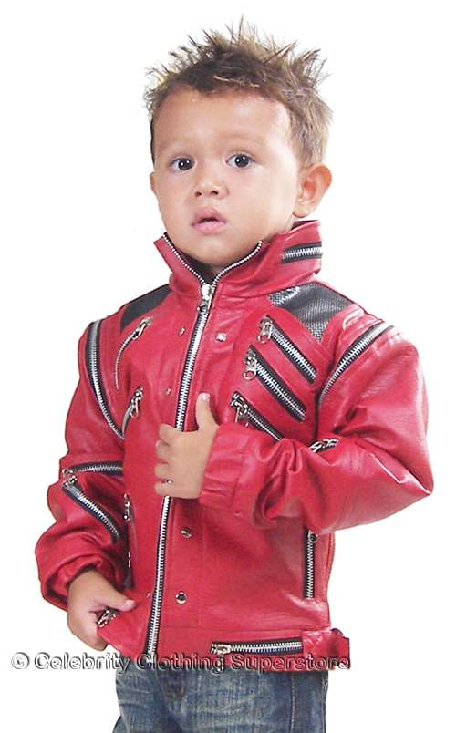 The legend lives on with the Boys' Deluxe Jacket, Michael Jackson Costume. Bursting with iconic details, this show-stopping red zipper jacket is sure to be a party favorite and tons of fun to accessorize.