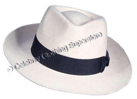 b98755b28105c MJ Professional - White Fedora Hat With Name   -  99.99   Michael ...