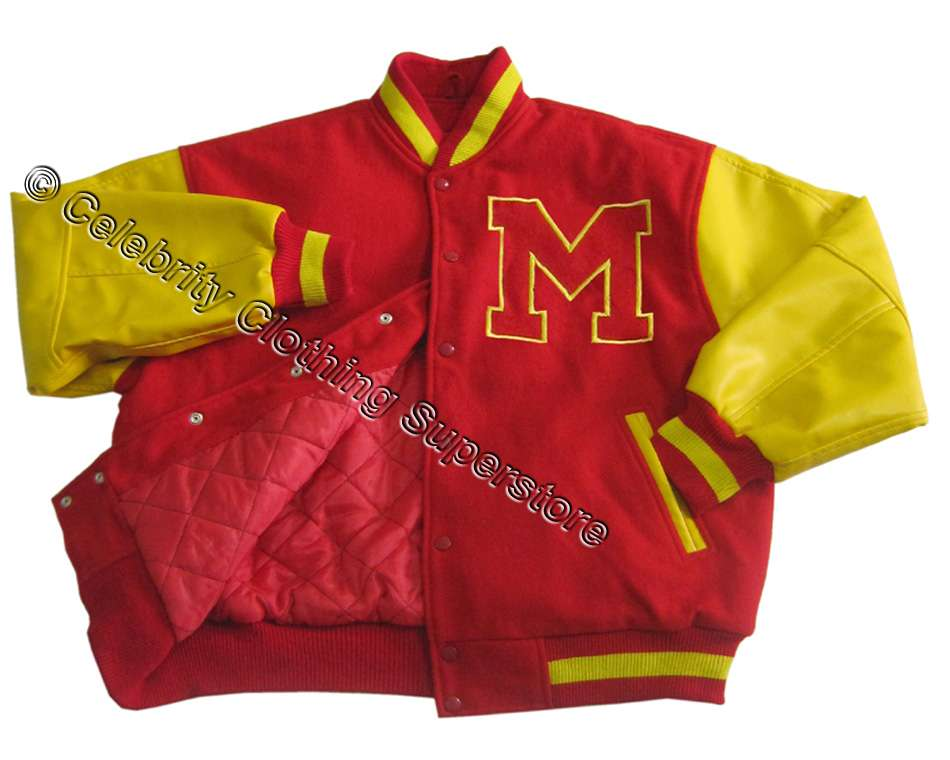 Michael Jackson Varsity Jacket (Real Leather Sleeve) (All Sizes ... f5606b5bb9c5