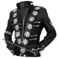 Michael Jackson Bad Jacket with Silver Eagle Badges - All Sizes!