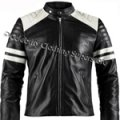 Leather Fight Club Brad Pitt Black Jacket (All Sizes!)
