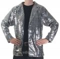 CJ074 Men's Metallic Cabaret, Entertainers Sequin Dance Jacket