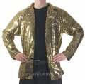 CJ052 Men's Gold Cabaret, Entertainers Sequin Dance Jacket
