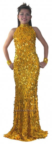 TM2024 Tailor Made Fully Sequined Prom / Ball Gown - Click Image to Close