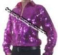 LATIN Dance / Stage / Entertainers FULLY SEQUIN Shirt - CSJ500