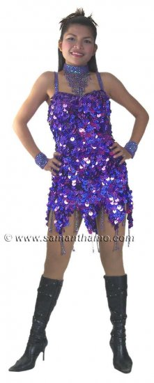 TM1030 Tailor Made Sparkling Sequin Dance Dress - Click Image to Close