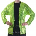 CJ072 Men's Lime Cabaret, Entertainers Sequin Dance Jacket