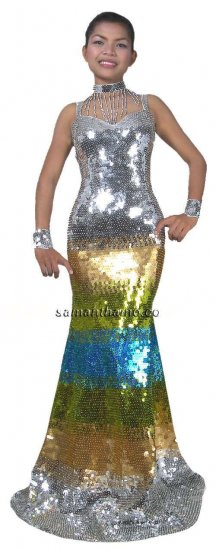 CT120 Sparkling ' Sequin Dance, Occasion Costume, Gown - Click Image to Close