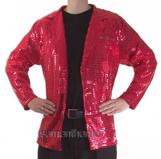 CSJ550 Men's Stage Sparkling Sequin Effect Dance Jackets - Click Image to Close