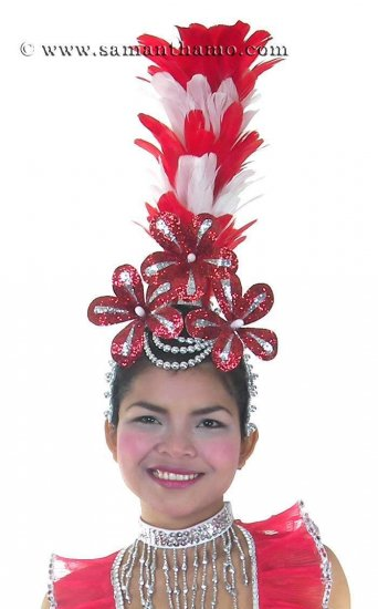 Las Vegas Show Girl Feather Headdress - In Any Colour - HD158 - Click Image to Close