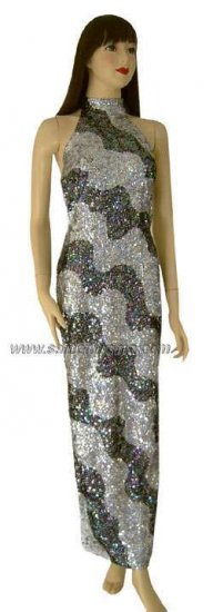 TM5051 Tailor Made Fully Sequined Gown - Click Image to Close