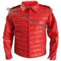 MJ RED Man In Mirror Jacket - Real Leather - (All Sizes!)