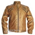 Michael Jackson GOLD Real Leather BEAT It Jacket