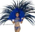 FULL LAS VEGAS Showgirl FEATHER BACK HARNESS Costume STC2020