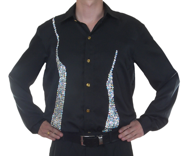 cabaret-show-business-entertainers-clothing/sequin-stage-cabaret-entertainers-dance-shirt/sequin-black-satin-salsa-dance-shirt1.jpg