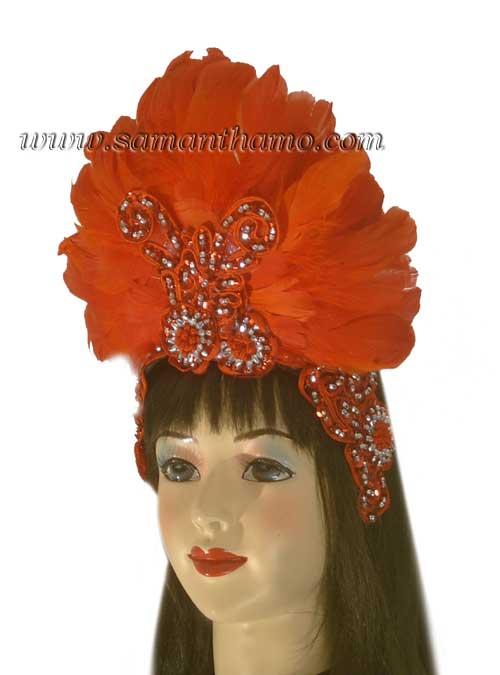 https://michaeljacksoncelebrityclothing.com/exotic-head-dresses/HD405-orange-feather-headdress.jpg