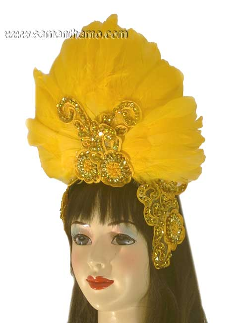 https://michaeljacksoncelebrityclothing.com/exotic-head-dresses/HD407-yellow-feather-headdress.jpg