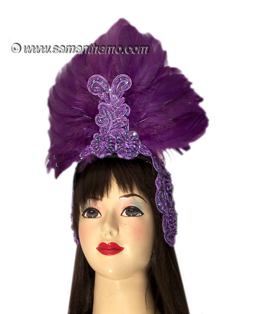 https://michaeljacksoncelebrityclothing.com/exotic-head-dresses/HD408-purple-feather-headdress.jpg
