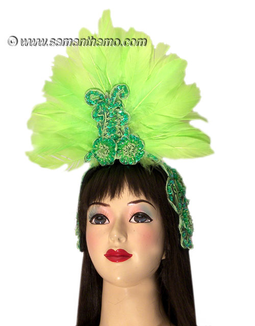 https://michaeljacksoncelebrityclothing.com/exotic-head-dresses/HD409-neon-green-feather-headdress.jpg