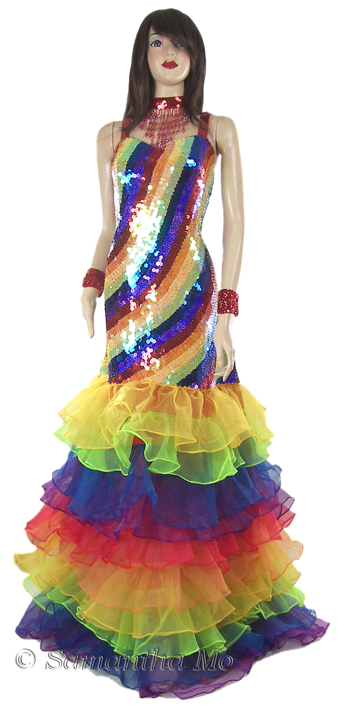 https://michaeljacksoncelebrityclothing.com/gay-pride-clothing/TM0910-rainbow-beaded-ruffled-ball-gown.jpg