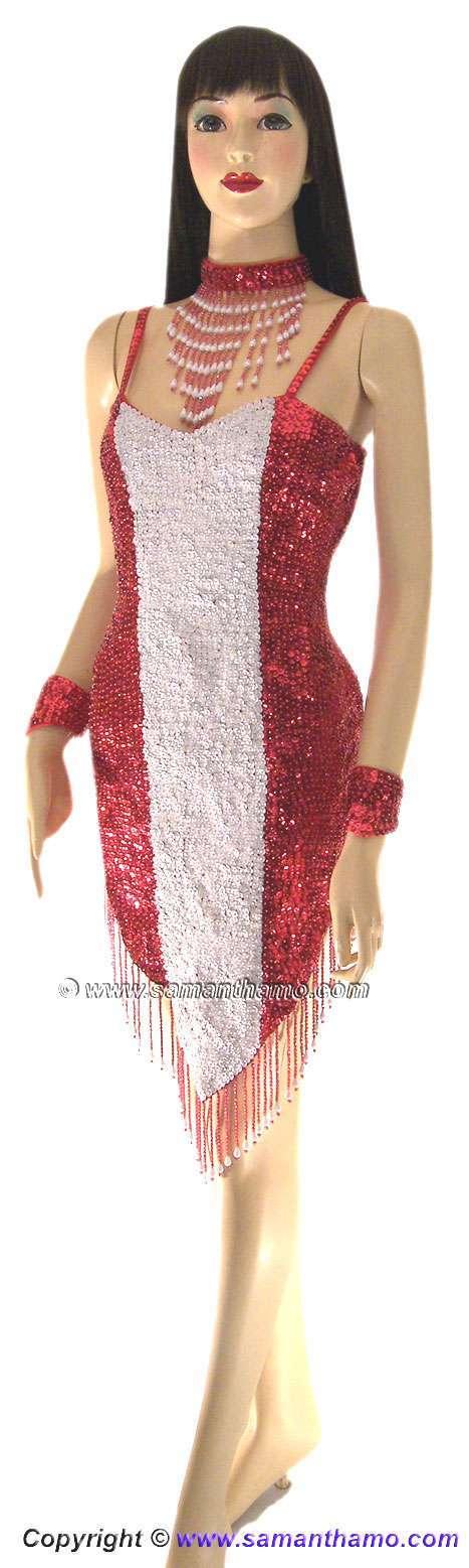 Sdw450 tailor made sequin austria flag dance dress 169 for Tailor made shirts online