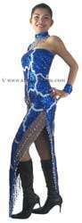 CT118 Sparkling ' Sequin Dancing Competition Costume, Dress - Click Image to Close