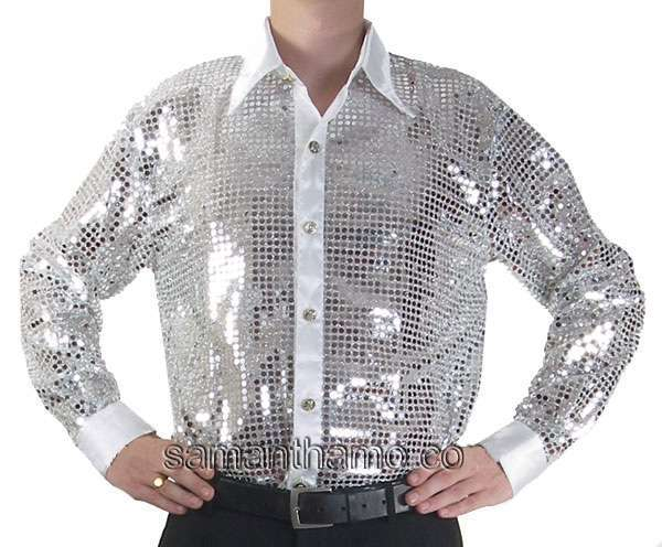 silver mens cabaret stage entertainers sequin dance
