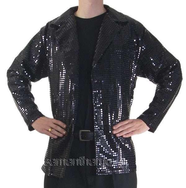 cj046 men 39 s black cabaret entertainers sequin dance jacket. Black Bedroom Furniture Sets. Home Design Ideas
