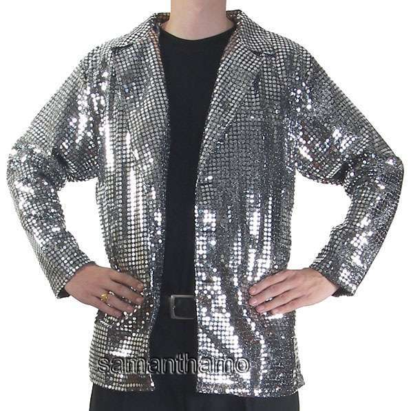 Cj074 Men S Metallic Cabaret Entertainers Sequin Dance