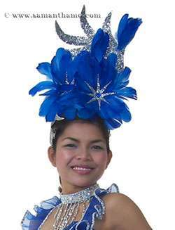 Professional Show Girl Feather Headdress - In Any Colour - HD155 - Click Image to Close