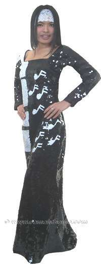 TM2006 TAILOR MADE Sparkling Sequin Cabaret Evening PIANO Gown - Click Image to Close