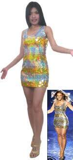 BEYONCE REPLICA SPARKLING SEQUIN DRESS