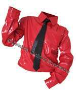 .MJ RED PVC DANGEROUS SHIRT - PRO SERIES