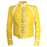 Freddie Mercury Queen Concert Yellow Leather Jacket - Click Image to Close