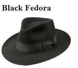 b214843a1 MJ Professional Entertainers - Black Fedora Hat - Pro Series - $119.99