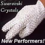 Performers - Michael Jackson Glove 1000 + Loch Rosen Crystals