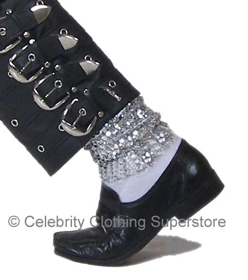 NEW ! Michael Jackson Sparkling Sequin BAGGY Socks (Pro Series)