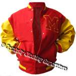 Michael Jackson Varsity Jacket (Real Leather Sleeve) (All Sizes! - Click Image to Close