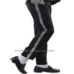Michael Jackson Silver Stripe Real Sequin Trousers (Pro Series)