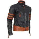 X-MEN Wolverine Origins BLACK Leather Jacket (TAILOR MADE) - Click Image to Close