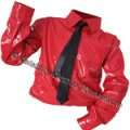 MJ Red PVC Dangerous Shirt & Tie - Pro (XX Small - XXX Large)