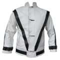 MJ Real Leather WHITE Thriller Jacket (Tailor Made)
