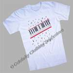 Michael Jackson Piano Key T-Shirt out of the 'Beat It' video - Click Image to Close