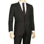 Men's 1 Button Suit in Black - Tailor Made & Perfect Fit! MS402 - Click Image to Close