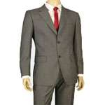 Men's 2 Button Suit in Gray - Tailor Made & Perfect Fit! MS502 - Click Image to Close