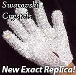 Exact Replica - Michael Jackson Glove 2000 + Loch Rosen Crystals